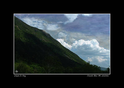 Photograph - Clouds Over Webster Poster by Wayne King