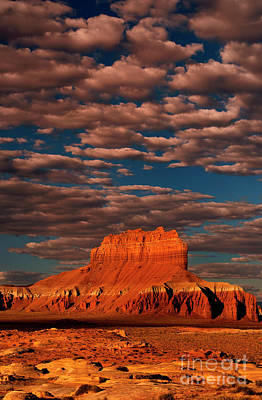 Photograph - Clouds Over Wild Horse Butte Goblin Valley Utah by Dave Welling