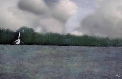 Photograph - Clouds Over Wonalancet Chapel by Wayne King