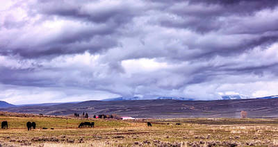 Photograph - Clouds Over Wyoming by Loc