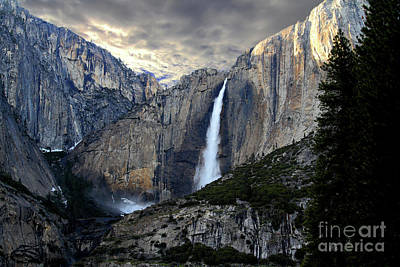 Clouds Over Yosemite Fall Art Print by Wingsdomain Art and Photography