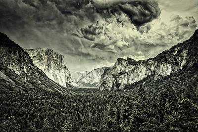 Photograph - Clouds Over Yosemite by L O C