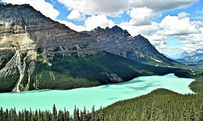 Photograph - Clouds Overhead At Peyto by Frozen in Time Fine Art Photography