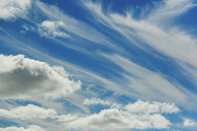 Photograph - Clouds Painted In The Blue Sky by Joni Eskridge