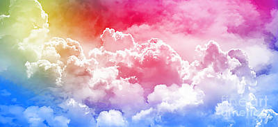 Photograph - Clouds Rainbow - Nuvole Arcobaleno by Zedi