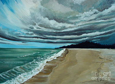Painting - Clouds Rolling In by Elizabeth Robinette Tyndall