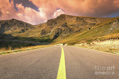 Photograph - Clouds Rolling Over Transalpina Road by Claudia M Photography