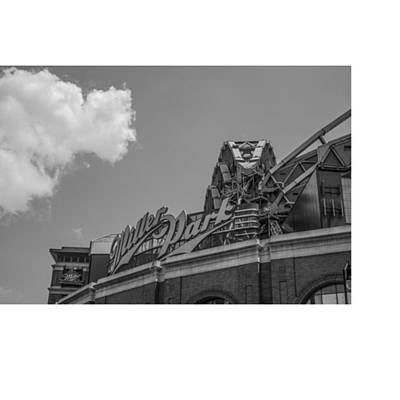 Baseball Wall Art - Photograph - #clouds #skyline #blacknwhite by David Haskett II