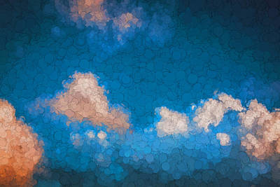 Photograph - Clouds Stratocumulus Blue Sky Painted 14 by Rich Franco