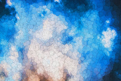 Photograph - Clouds Stratocumulus Blue Sky Painted 17 by Rich Franco