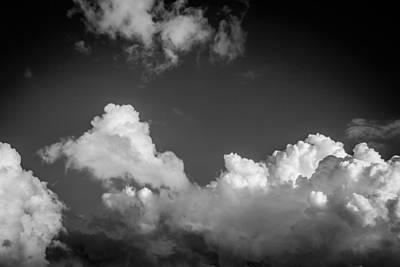 Photograph - Clouds Stratocumulus Blue Sky Painted Bw 12 by Rich Franco