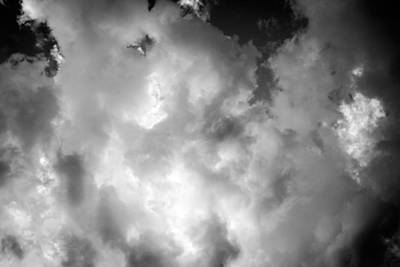 Photograph - Clouds Stratocumulus Blue Sky Painted Bw 15 by Rich Franco