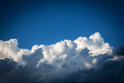 Photograph - Clouds Stratocumulus Blue Sky Painted Bw 2 by Rich Franco