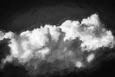 Photograph - Clouds Stratocumulus Blue Sky Painted Bw 4 by Rich Franco