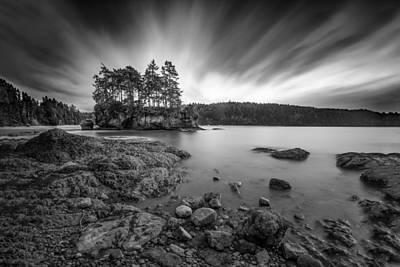 Photograph - Clouds Stream Over Crescent Bay by Mark Robert Rogers