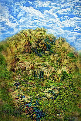Digital Art - Clouds Sweep Ancient Cliffs by Joel Bruce Wallach
