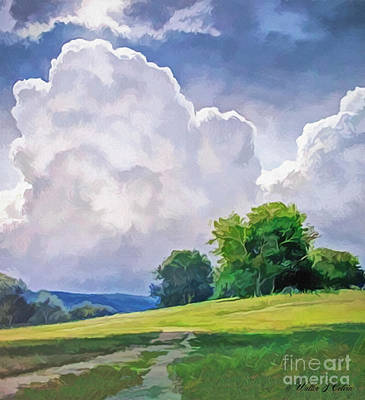 Digital Art - Clouds by Walter Colvin