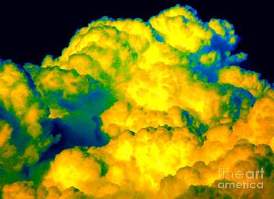 Pro Mixed Media - Clouds With A Neon Glow Added by Rose Santuci-Sofranko