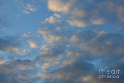 Photograph - Clouds With Blue Sky by Donna L Munro