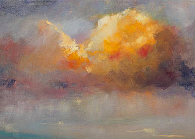 Cloudscape Painting - Cloudscape by Nancy Merkle