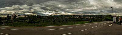 Cloudscape Over Grapevine Valley In Bardolino Italy Original