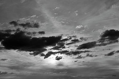 Cloudscape Xxi Bw Art Print by David Gordon