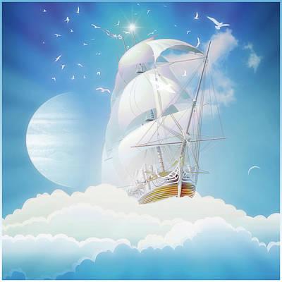 Cloudship Art Print by Harald Dastis