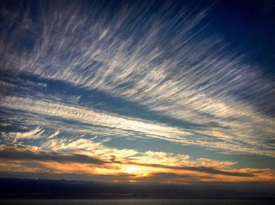 Photograph - Cloudstripes by Alistair Lyne