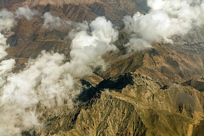 Photograph - Cloudy Afghan Mountain Peaks by SR Green