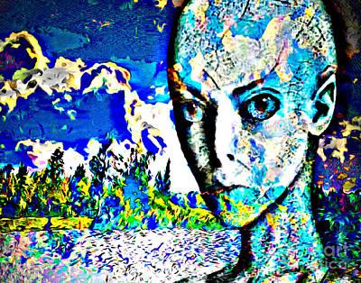 Digital Art - Cloudy And Windy Summer Day by Algirdas Lukas