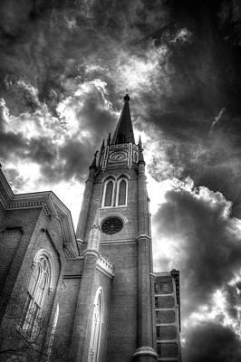 Cloudy Assumption Black And White Art Print by Royal Photography