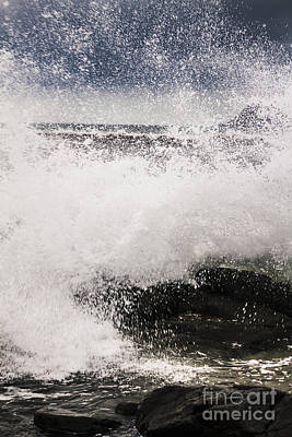 Beach Landscape Photograph - Cloudy Bay Storms And Turbulent Seas by Jorgo Photography - Wall Art Gallery