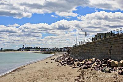 Winthrop Photograph - Cloudy Beach by Extrospection Art