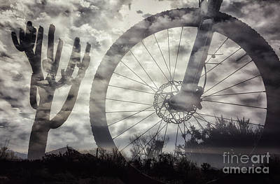 Photograph - Cloudy Bike Ride by Marianne Jensen