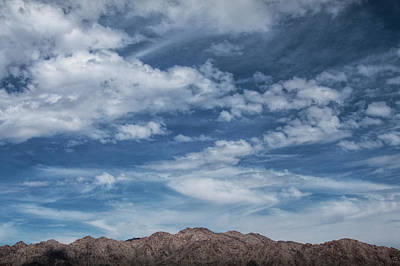 Photograph - Cloudy Blue Skies Over The Palen Mountain Range In California by Randall Nyhof