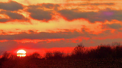 Photograph - Cloudy But Bright Sunset by Tina M Wenger