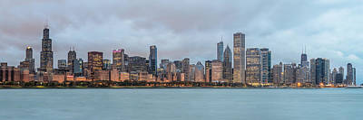 Skylines Royalty-Free and Rights-Managed Images - Cloudy Chicago Skyline by James Udall