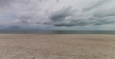 Photograph - Cloudy Clam Pass Panoramic by Christopher L Thomley