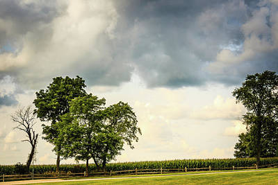 Photograph - Cloudy Country Day by Joni Eskridge