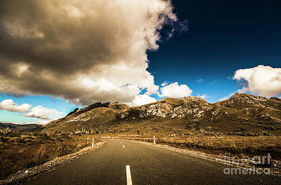 Country Road Wall Art - Photograph - Cloudy Country Road by Jorgo Photography - Wall Art Gallery