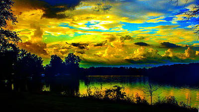 Photograph - Cloudy Dawn Colors by Jeff Kurtz