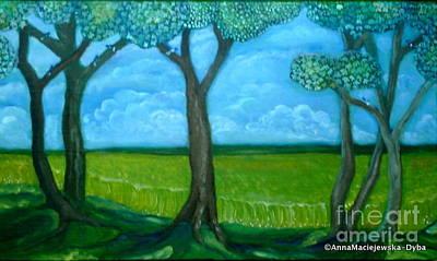 Painting - Cloudy Day by Anna Folkartanna Maciejewska-Dyba