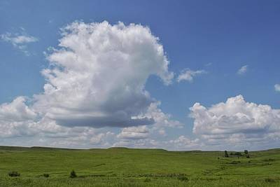 Photograph - Cloudy Day At Flint Hills by Lisa Plymell