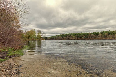 Photograph - Cloudy Day At Houghtons Pond by Brian MacLean