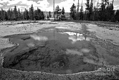 Photograph - Cloudy Day At Lemon Spring Black And White by Adam Jewell