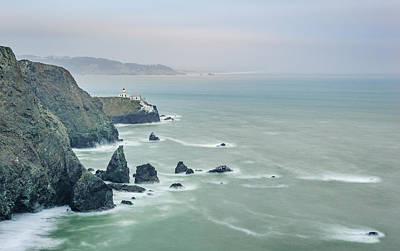 Bay Photograph - Cloudy Day At Marin Headlands - Point Bonita Lighthouse Photograph by Duane Miller