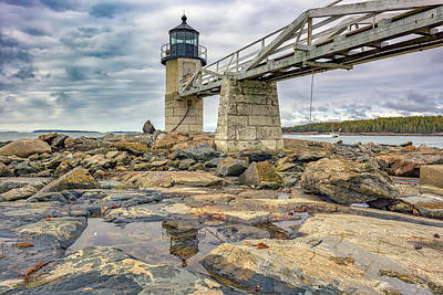 Art Print featuring the photograph Cloudy Day At Marshall Point by Rick Berk