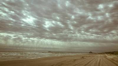 Photograph - Cloudy Day At The Beach by Debra Martz