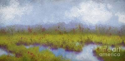 Painting - Cloudy Day At The Marsh  by Barrie Stark