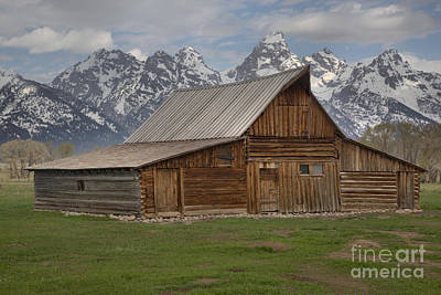 Cloudy Day At The Moulton Barn Art Print by Adam Jewell